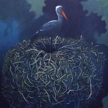 Nest-Eitempera auf Leinwand-120x100cm-2017