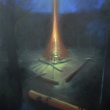 fireplace egg-tempera on canvas 200x180cm 2018