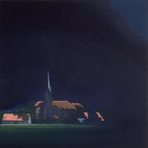 church Eitempera auf Leinwand 40x40cm 2020